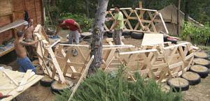 Pallet geodesic