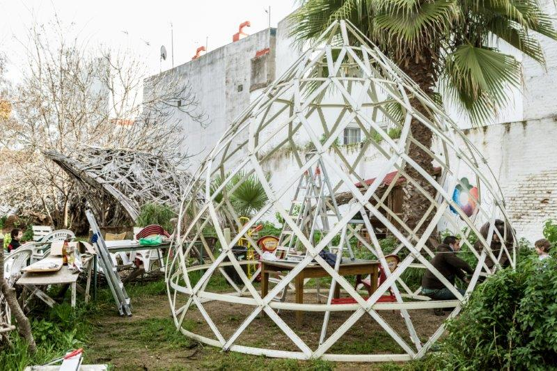 zome greenhouse selfconstruction