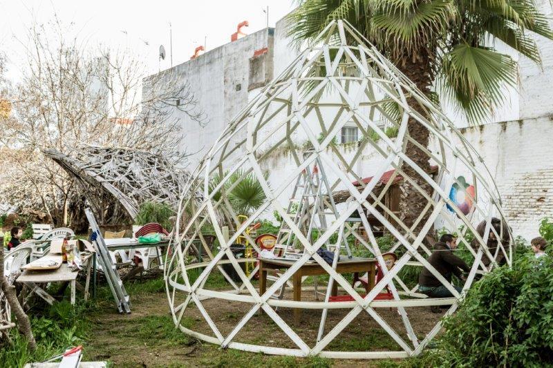 zome invernadero autoconstruccion persianas usadas