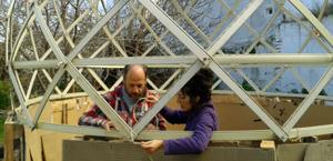 come costruire una serra persiane usate
