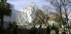 geodesic greenhouse reused materials