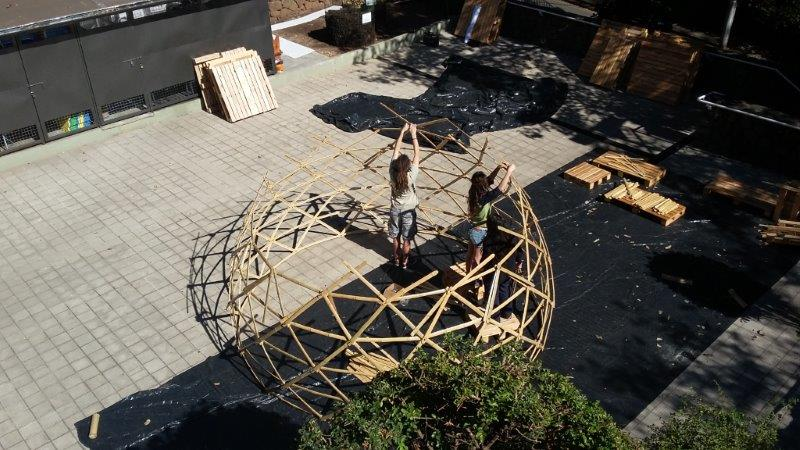 selfbuilt zome geodesic dome