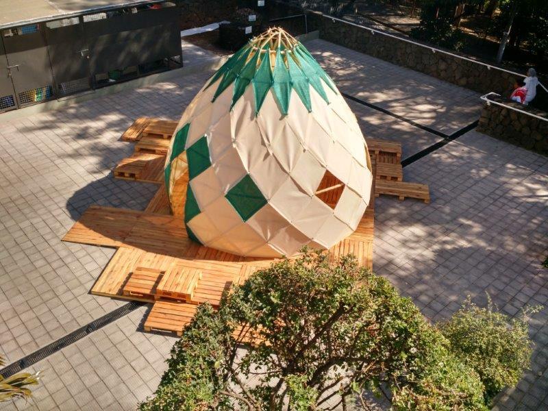 estructuras geodésicas bambu