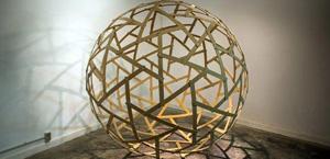 davinci leonardo maglia griglia scultura strutture